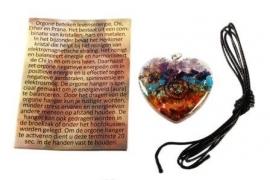Orgone hartvormige chakrahanger met spiraal