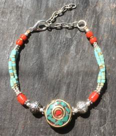 Traditionele Tibetaanse armband, handgemaakt
