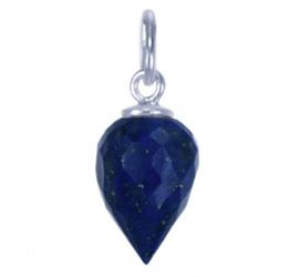 Zilveren bedel hanger met Lapis Lazuli druppel