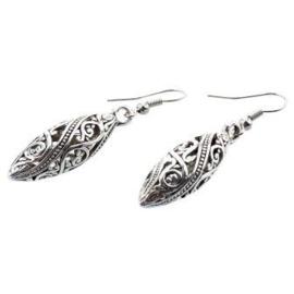 Handgemaakte Tibetaanse oorbellen, kegelvormig