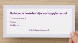 Kadobon Happybazaar vanaf  €7,50