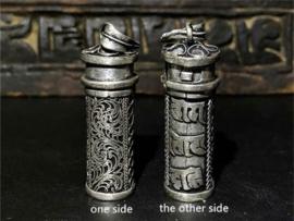 Tibetaans Zilveren Gebedsdoos Amulet