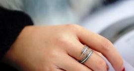 Veer van zilver, open ring