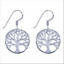Levensboom oorbellen van zilver
