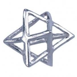 Merkaba hangertje van zilver