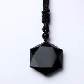 Zwarte Obsidiaan aan koord