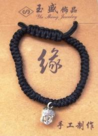 Boeddhahoofdje aan verstelbare armband