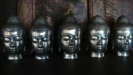 Prachtig silverplated Boeddha hoofdje