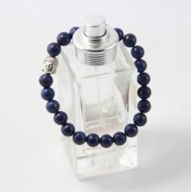 Lapis Lazuli armband met zilverkleurige Boeddhakraal