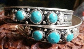 Armband uit Tibet met triple Turkoois