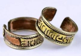 Ring van koper met Mantra