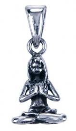 Yoga hangertje Namasté van zilver