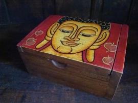 Handbeschilderd Boeddha doosje