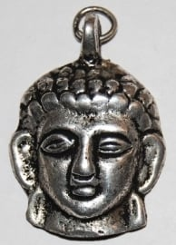 Boeddhahoofd hangertje van zilver