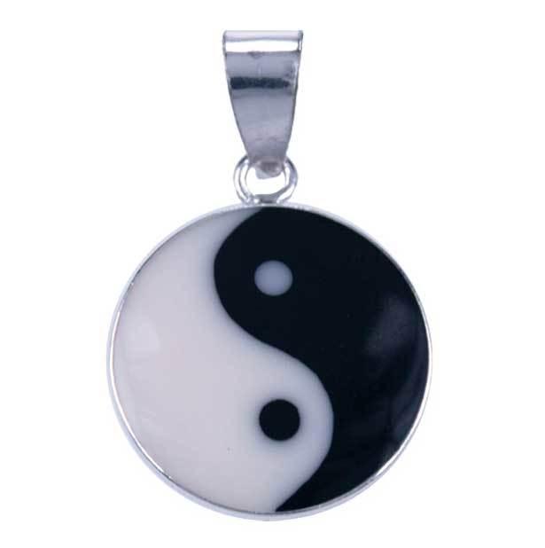 Yin Yang hangertje van zilver