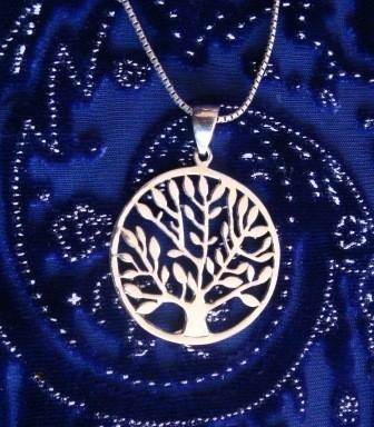Levensboom hanger van zilver