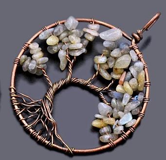 Levensboom hanger met Labradoriet