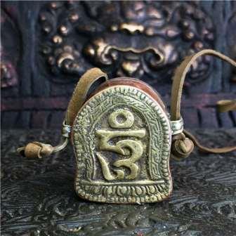 Tibetaans reisaltaartje met Aum teken