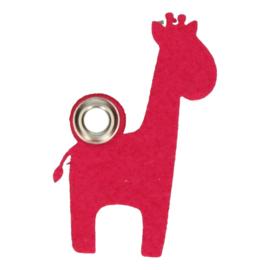 Vilten sleutelhanger giraf
