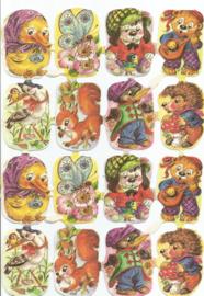 Nostalgische Poezieplaatjes  Kruger 171/302  Beestjes
