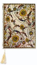 Boncahier Persia - goud notitieboek met reliëf bloemmotief