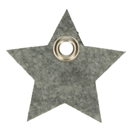 Vilten sleutelhanger ster