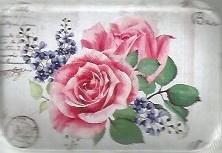Klein schattig bloemenblikje gevuld met  bloemenpoezieplaatjes