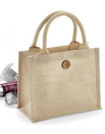 Juco mini bag met opdruk