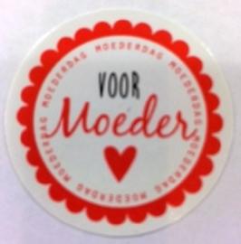 Stickertje  Voor Moeder