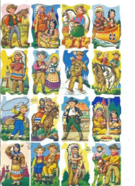 Nostalgische Poezieplaatjes  Cowboys & Indianen MLP 1431