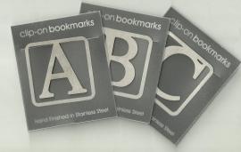Boekenlegger Clip met Letter F