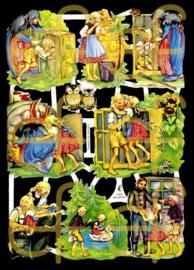 Nostalgische Poezieplaatjes  EF 7025 Sprookje Hans en Grietje