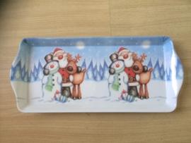 Dienblad Kerst -  Kerstman met rendier