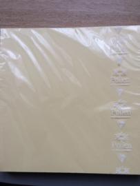 Kaarten vierkant 160x160mm Chamois