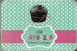 Cupcakes....blikje met wenskaarten