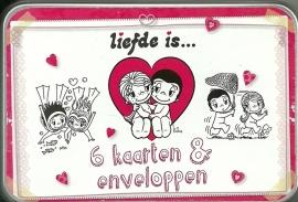 Liefde is.....blikje met wenskaarten
