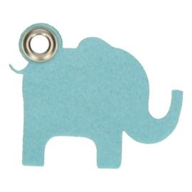 Vilten sleutelhanger olifant