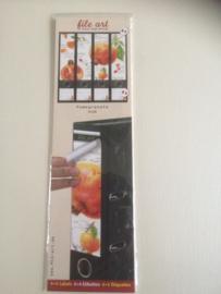 File art Ordneretiketten Pomegranate