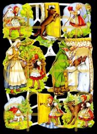 Nostalgische Poezieplaatjes  EF 7019 Sprookje Roodkapje