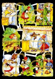 Nostalgische Poezieplaatjes  EF 7020 Sprookje Roodkapje 2