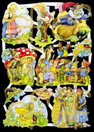 Nostalgische Poezieplaatjes  EF 7027 Sprookjes 1
