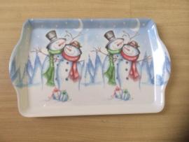 Dienblad Kerst -  Sneeuwpoppen