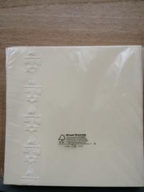 Kaarten vierkant 160x160mm Ivoor