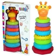 Giraffe baby stapelringentoren