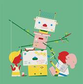 Poeziealbum set tekenrobot
