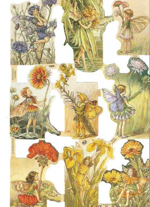 Poezieplaatjes Flower Fairies 8 MLP 1959