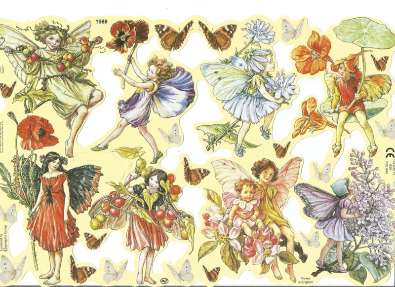 Poezieplaatjes Flower Fairies 4 MLP 1988