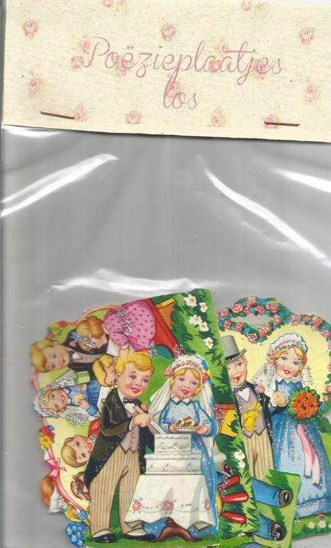 Setje poezieplaatjes los Kindjes en trouwerij