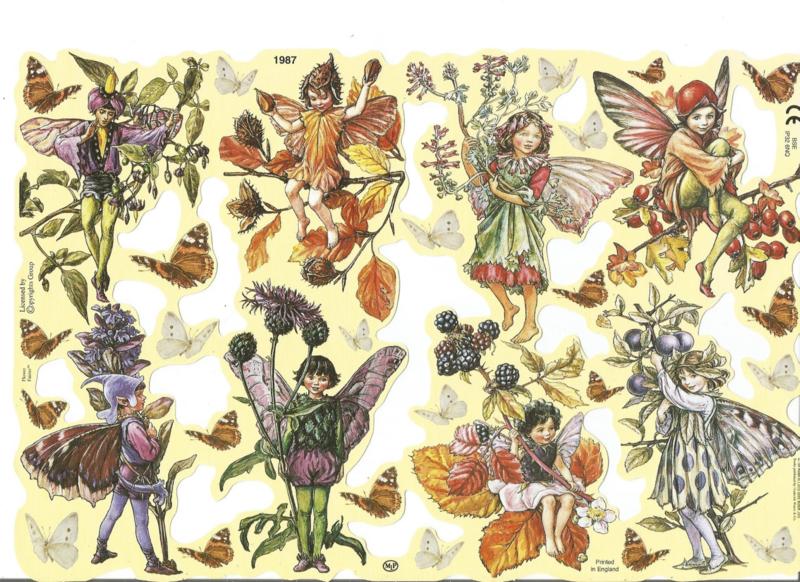 Poezieplaatjes Flower Fairies 3 MLP 1987