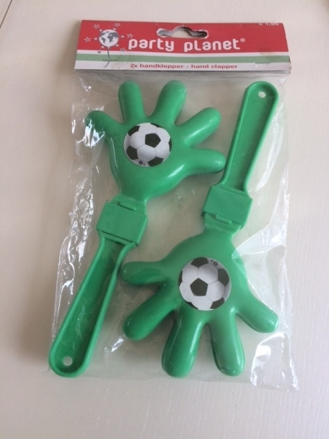 Kleppers groen met voetbalplaatje